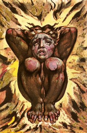 William Blake Los Symbol of Poetic Genius Consumed by Flames